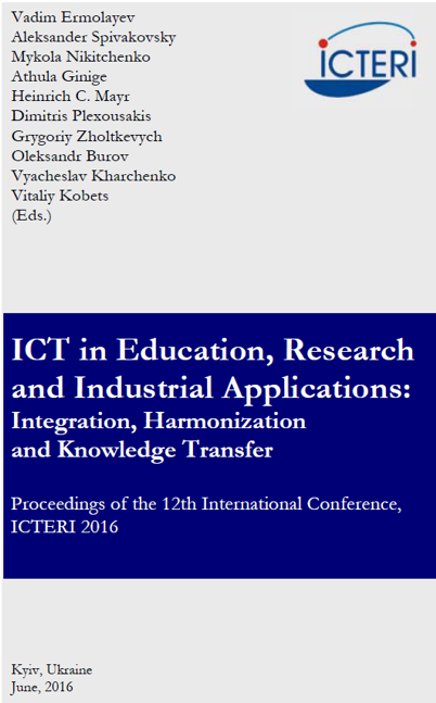 ICTERI 2016 Proceedings - all the book in one file